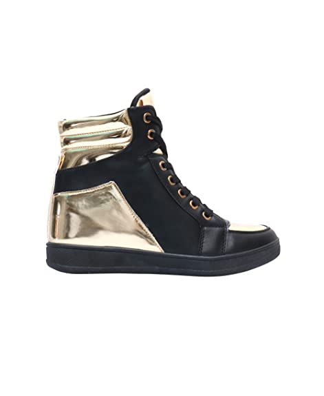 83f3653da9f7 UBFEN Womens Shoes Hidden Wedges 5.5cm Fashion Sneakers Ankle Boots Bootie  Platform Heel High Top Casual Sports Unique Christmas Gifts