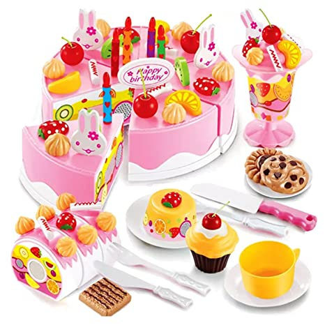 Buy Webby Musical DIY Birthday Cake Toy 75 Pieces Multi Color Online At Low Prices In India