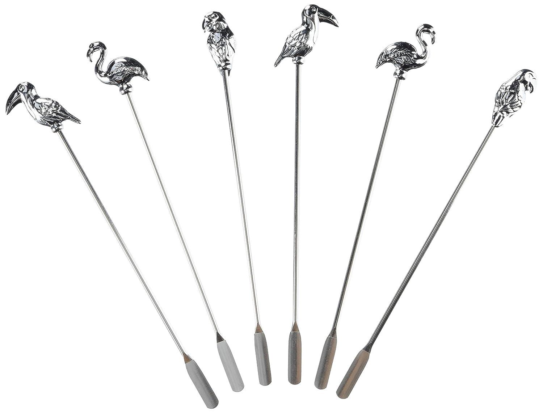 Prodyne BB-8 BAR Birds Swizzle Stick Set of 6
