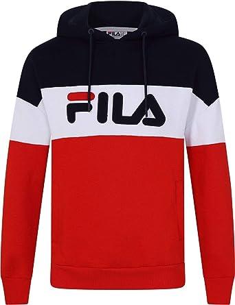 3ce9957c1c297 Fila Men's Rayton Colour Block Pullover Hoodie, Blue, XL at Amazon Men's  Clothing store: