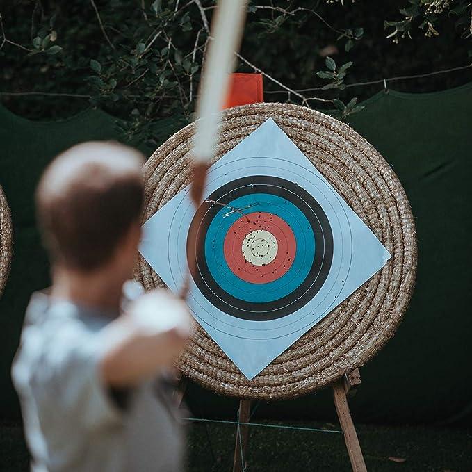 Outdoor Life 12Pcs 29 Fiberglass Archery Arrows and Target Faces Set 6Pcs 40cm
