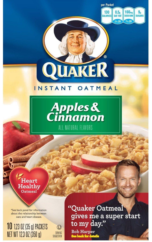 Quaker Instant Oatmeal Apple Cinnamon 10 Pk [Pack of 3]
