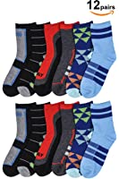 Basico Girls Kid's 6 Pack School Uniform Crew Socks