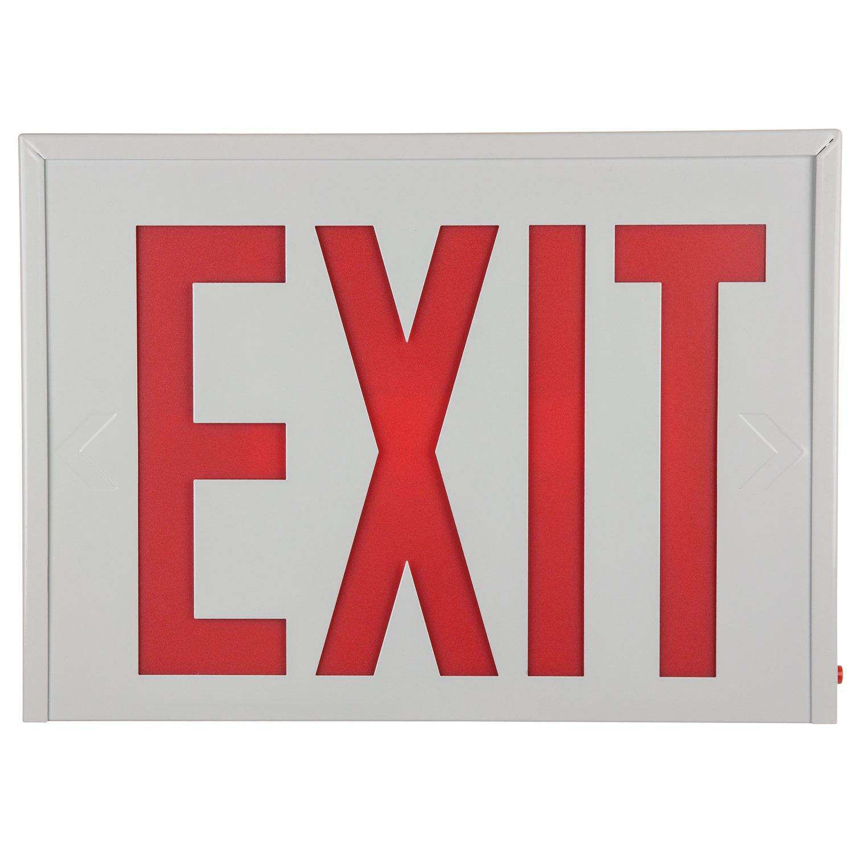 Sunlite 04307-SU EXIT/SU/1-2F/R/W/EM/NYC Exit Light