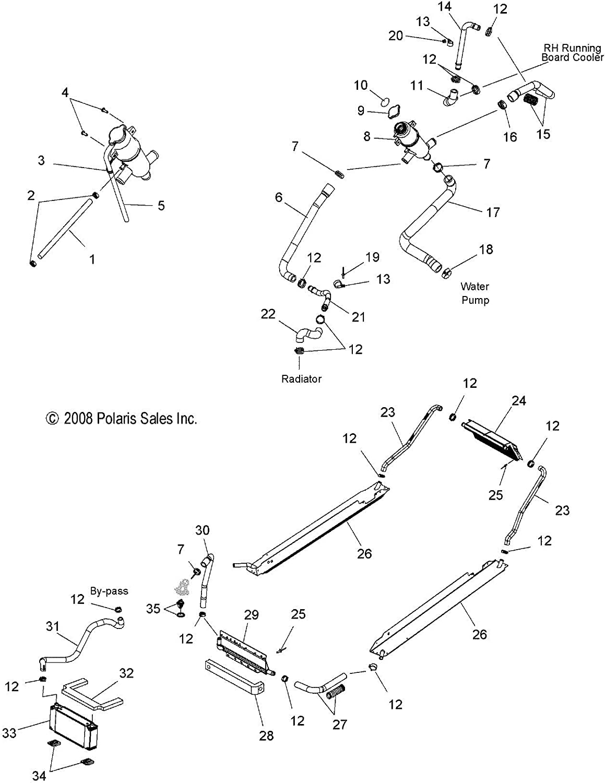 polaris engine diagram amazon com polaris hose engine radiator automotive  polaris hose engine radiator