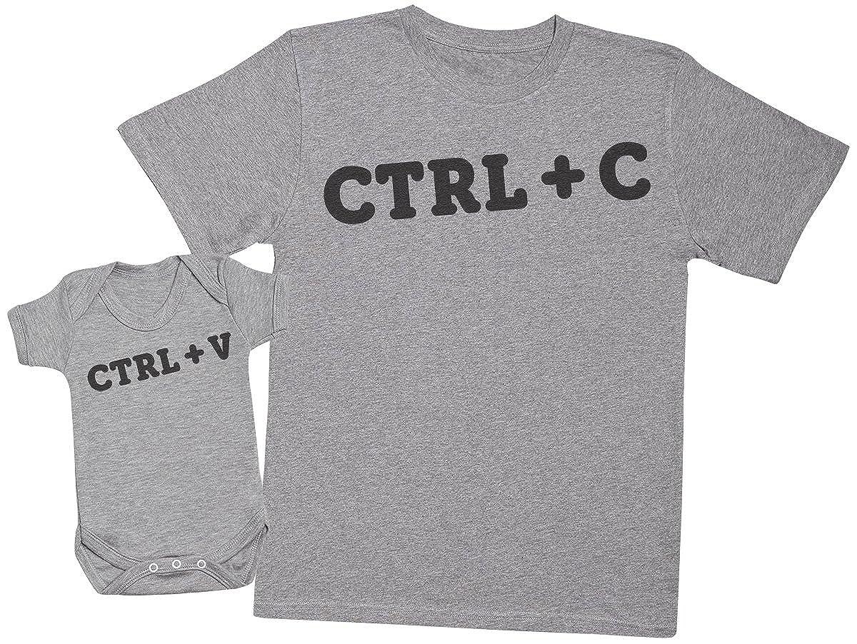 regalo para padres y beb/és en un cuerpo para beb/és y una camiseta de hombre a juego CTRL C and CTRL V