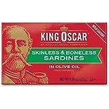 King Oscar Skinless & Boneless Sardines , Olive Oil, 4.38 Ounce, Pack of 12