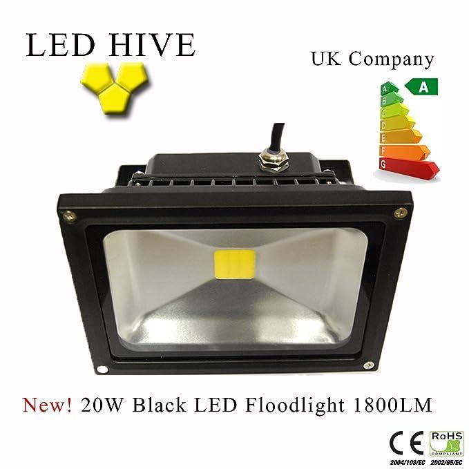 Proyector LED 20 W 1800 lm. Muy Luminoso - blanco cálido: Amazon ...