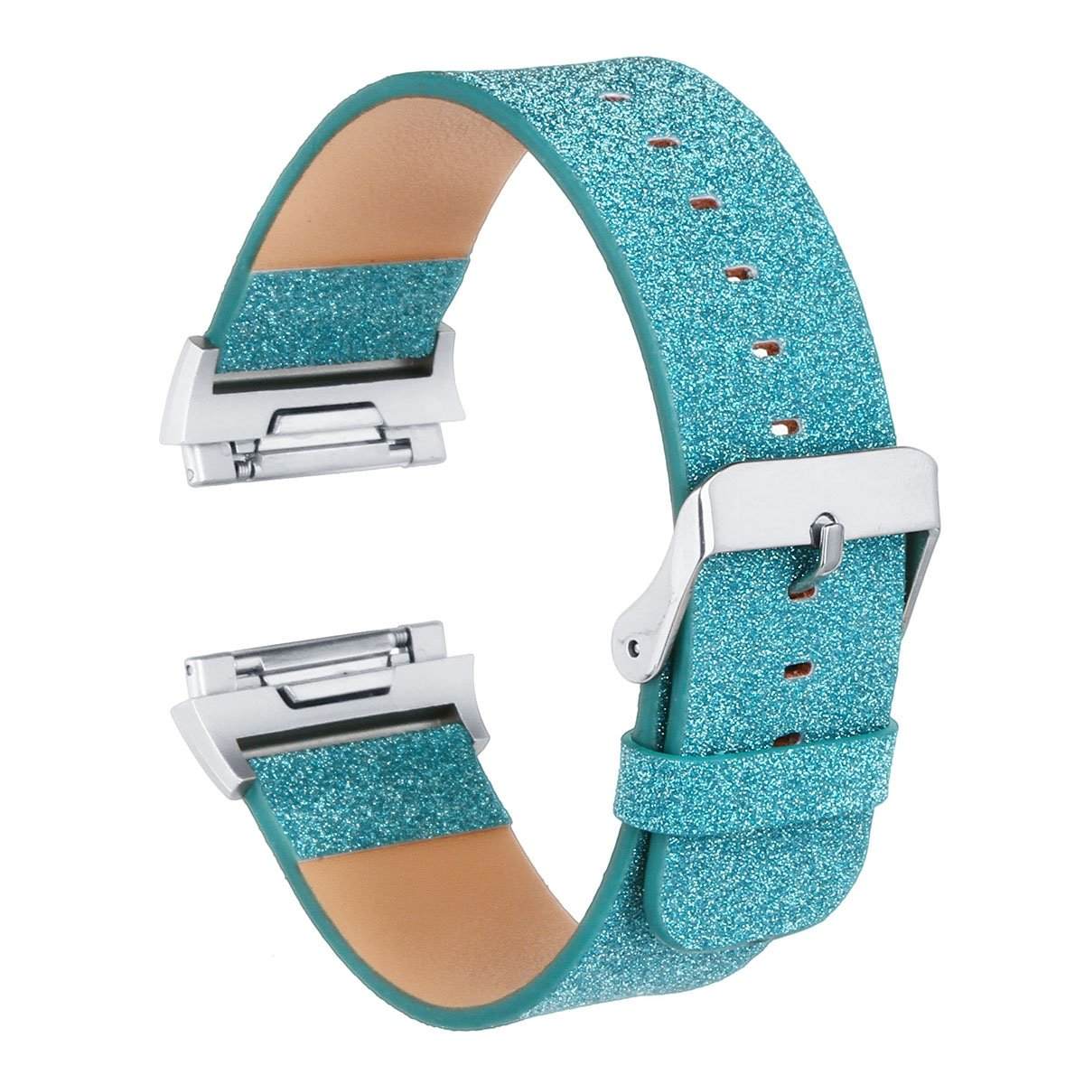 Fitbit Ionic Bands, Soft Accessory Replacement Band for Fitbit Ionic, With Metal Buckle Fitness Wristband Strap Women Men-Green