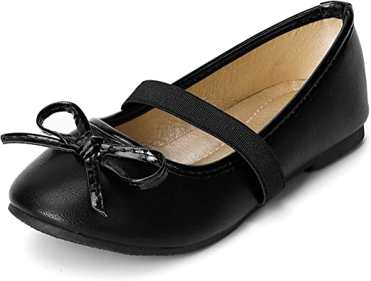 Amazon.com | SANDALUP Girls Flats Slip-on Ballet Flats with Elastic Strap  and Bow Knot | Flats