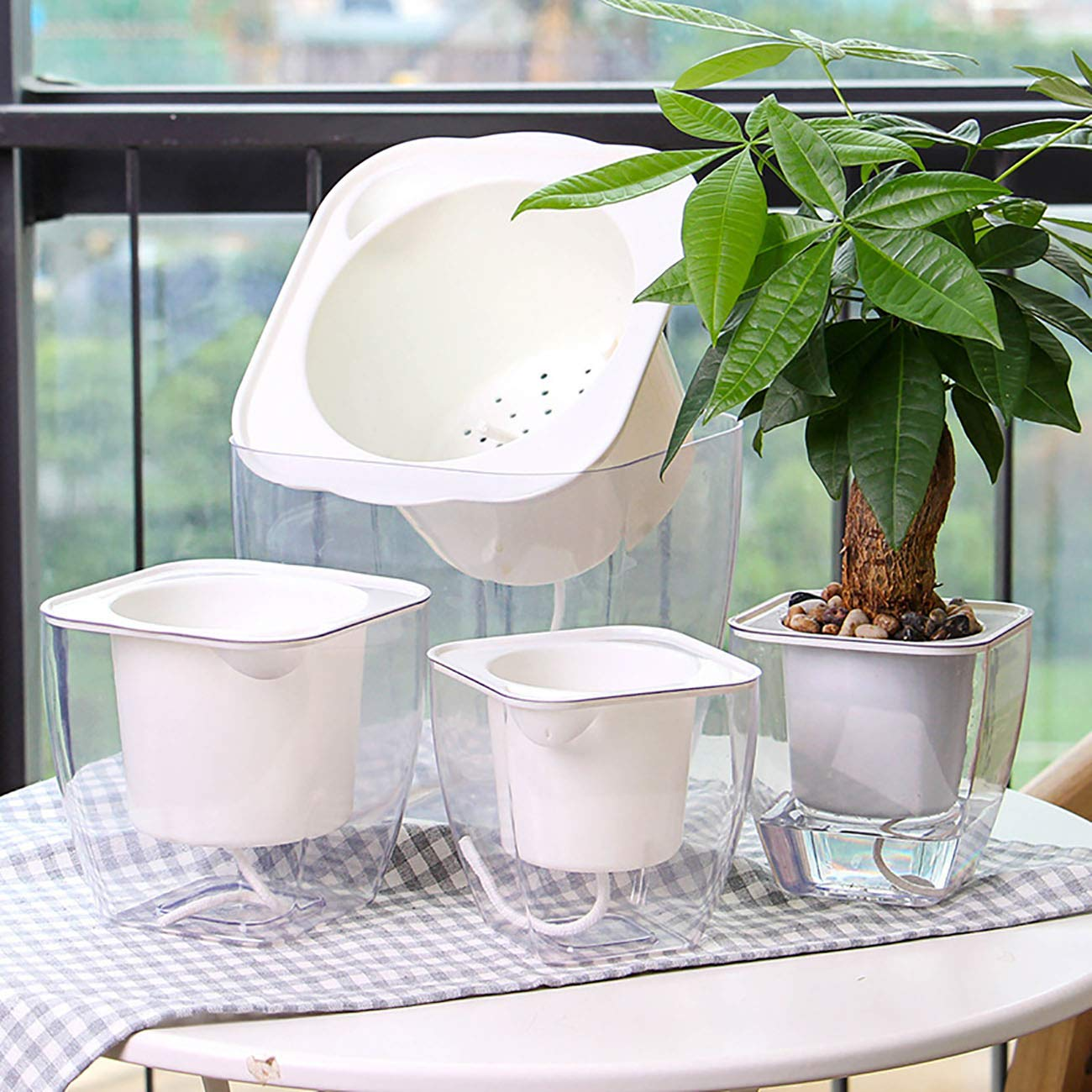JMsDream Plant Nursery Pots Lazy Flower Pot Automatic Water Absorption