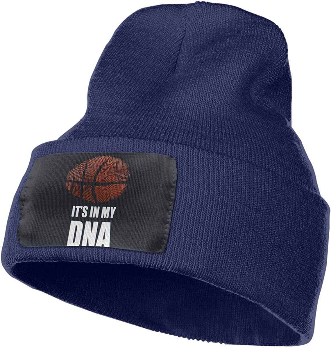 Basketball Its in My DNA Women and Men Skull Caps Winter Warm Stretchy Knitting Beanie Hats