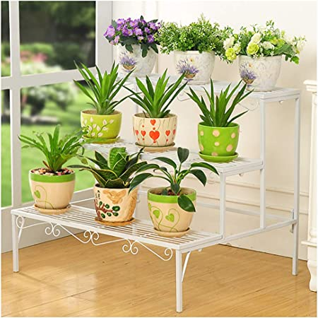 LCH Estante para estantes, Estante para macetas, Soporte para macetas para Interiores, Exterior para jardín, para Cultivar Plantas para macetas, para estantes, para estantes de exhibición: Amazon.es: Hogar