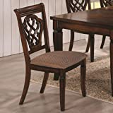 Coaster Home Furnishings Transitional Dining Chair, Antique Brown (Pack of 2)