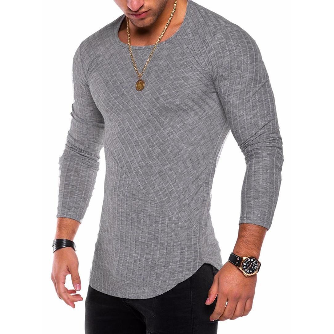 Hombre Camiseta Sonnena Mode Slim Fit o neck manga larga Muscle ...