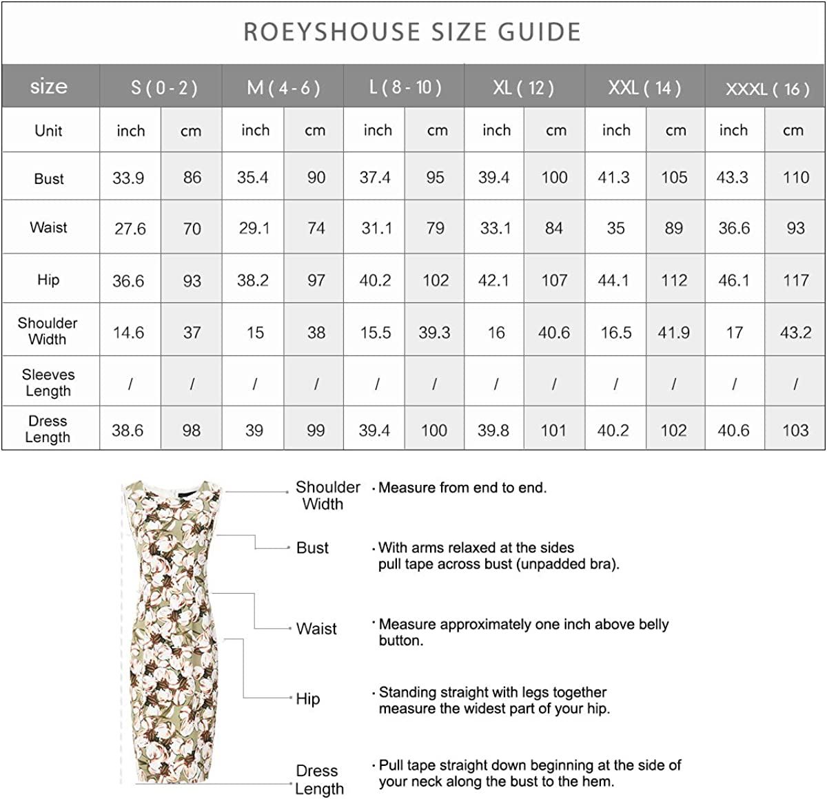 Roey s house Womens Sleeveless Floral Print Sheath Dress Knee Length Work Office Fitted Beige Dress