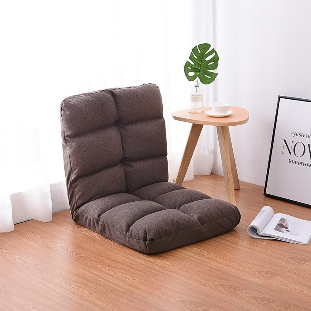 Coffee Beanbag Chair Single Sofa Bed Foldable Living Room Floor Lounge Chair Simple Balcony Small Sofa (color   Khaki)