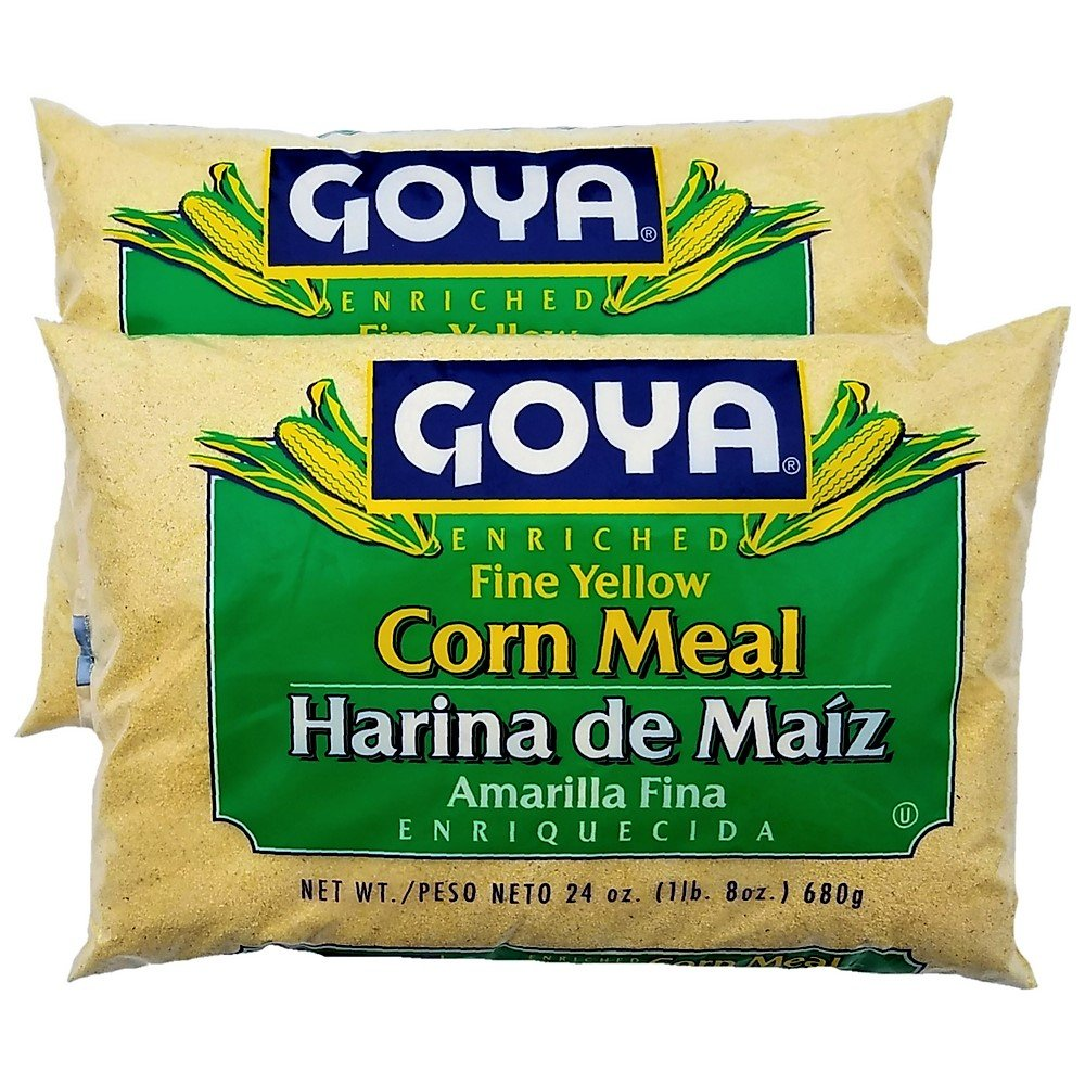 Goya Fine Yellow Corn Meal | Harina de Maiz Amarilla | 24 oz each - Pack of 2
