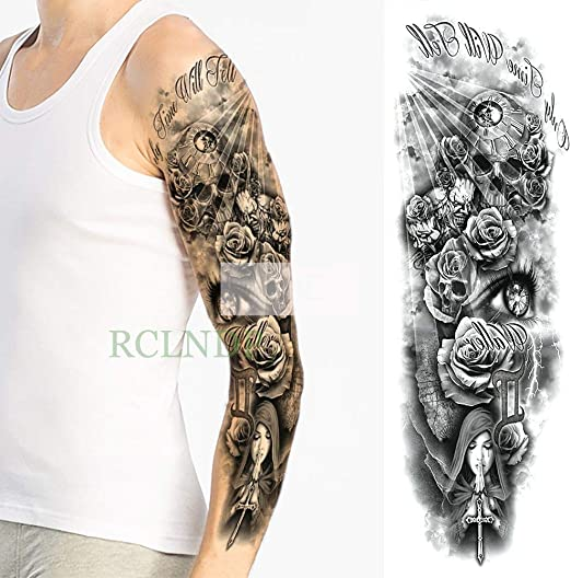 tzxdbh 5Pc-Etiqueta engomada del Tatuaje Impermeable Totem ...