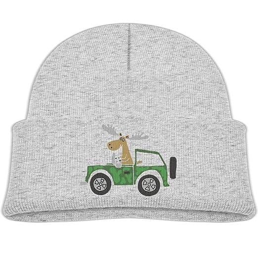 aaa3b2512e2 Qiop nee Beanie Hat Wool Skull Caps Cute Moose Truck Boys Girls Baby Soft