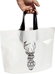 c4c6dbd3b647a ENTER SOONDAY Merchandise Bags 10x13 Reusable Gift Bags Shopping Bag Retail  Bag Handmade Bag for Event, Craft Show, Holiday Gift Pack of 50 (Deer) ...