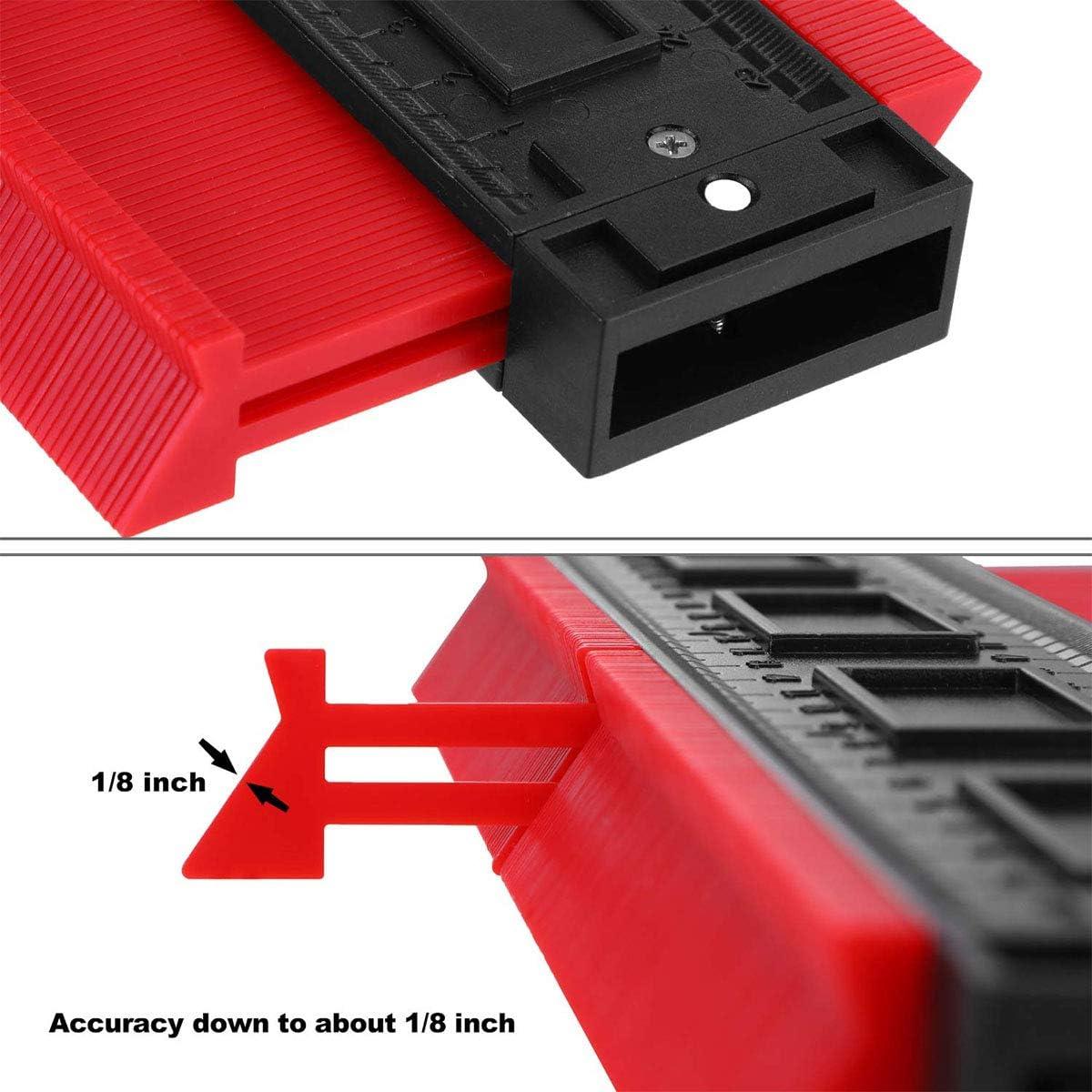 Widen Contour Gauge Duplicator,2 Pieces 5 Inch Outline Gauge for Precise Measurement Tiling Laminate and Wood Marking Tools