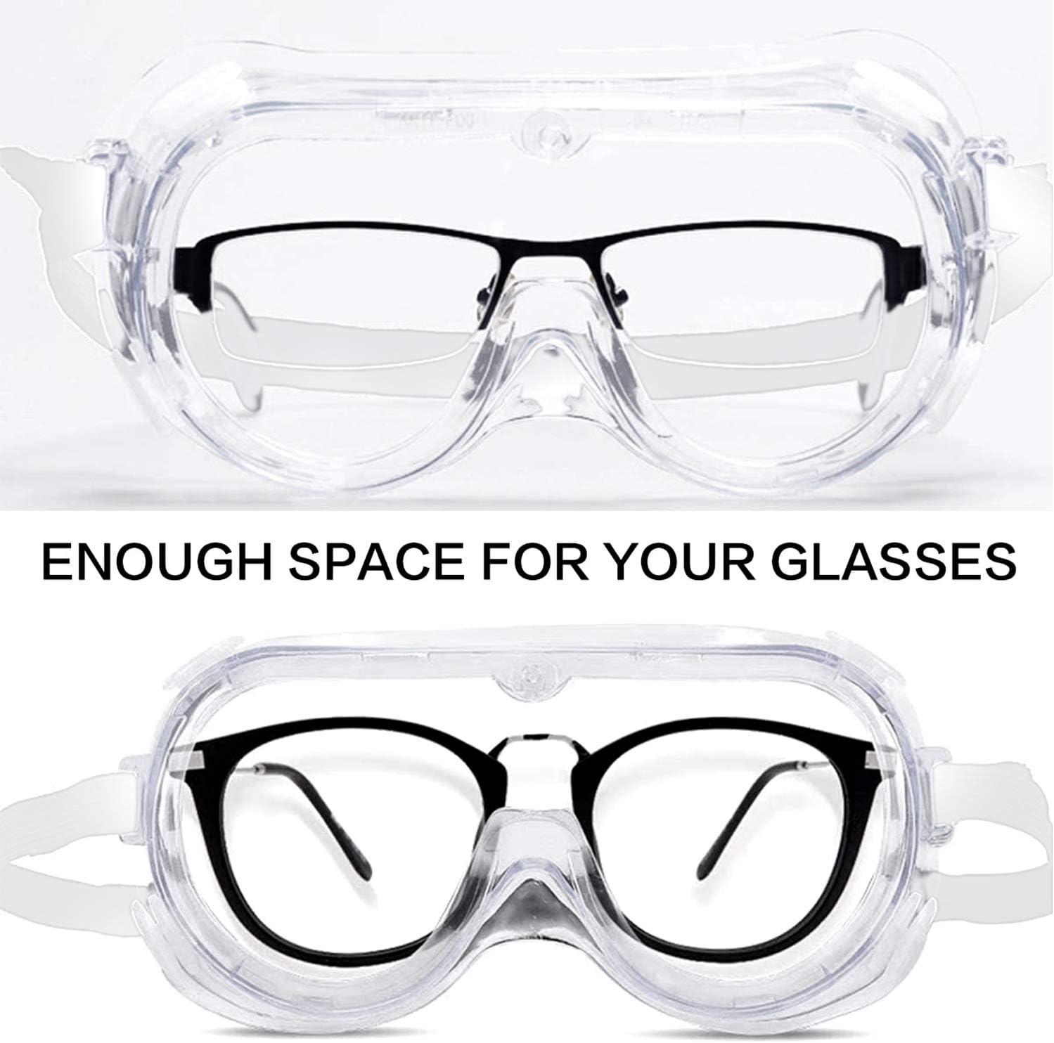 Zodight 3PCS Gafas Protectoras Gafas Proteccion Lentes de Seguridad Antivaho Antivirus Gafas de Protecci/ón de Epidemias Protectoras para Trabajo Laboratorio Transparente Hombre Mujer