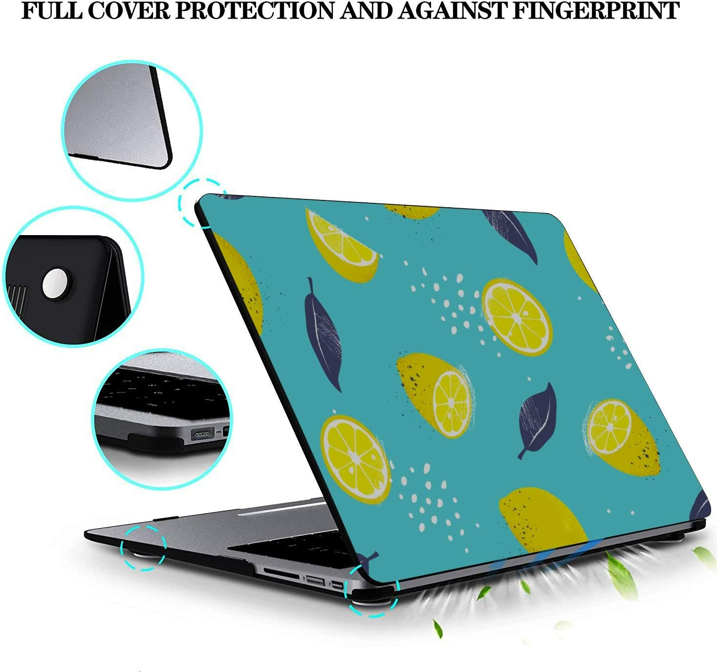 Accessories for MacBook Pro Yellow Sour Sweet Summer Fruit Lemon Plastic Hard Shell Compatible Mac Air 11 Pro 13 15 Hard Laptop Cases Protection for MacBook 2016-2019 Version