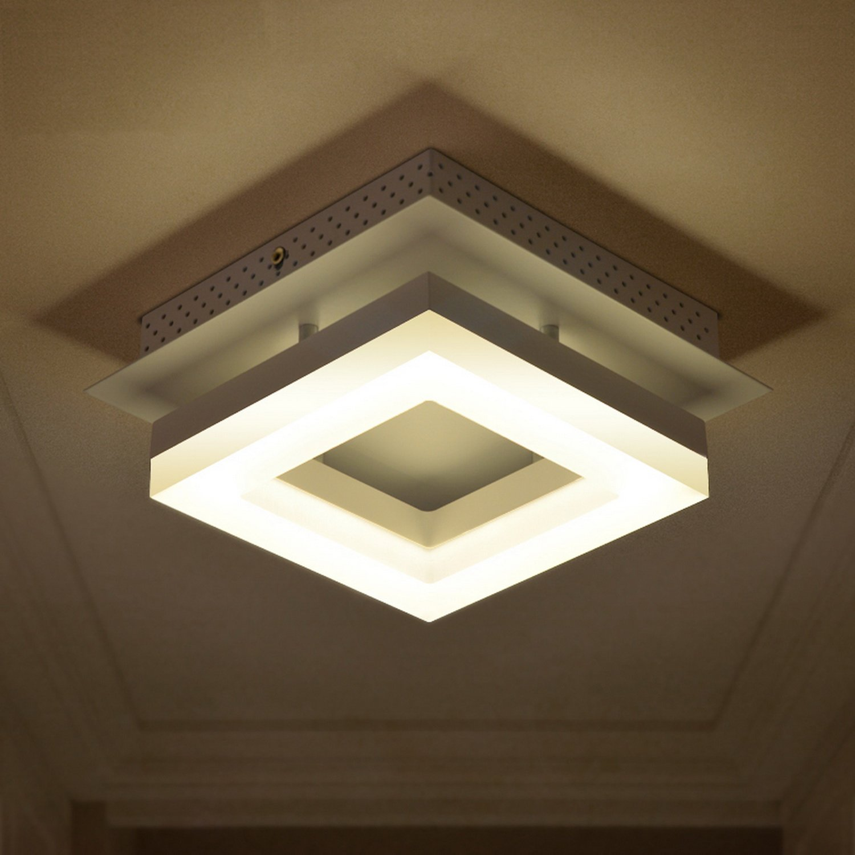 LightInTheBox 9W Modern Led Acrylic Flush Mount Living Room / Bedroom / Dining Room / Kitchen Chandeliers Ceiling Lighting Fixture Warm White