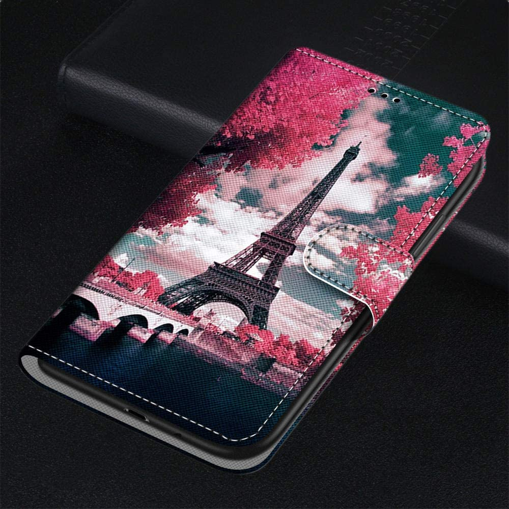 For Huawei Honor 9 Case Flip PU Leather Shockproof Wallet Case with Stand Magnetic Money Pouch Folio Silicone Bumper Gel Protective Phone Cover for Huawei Honor 9 Beads