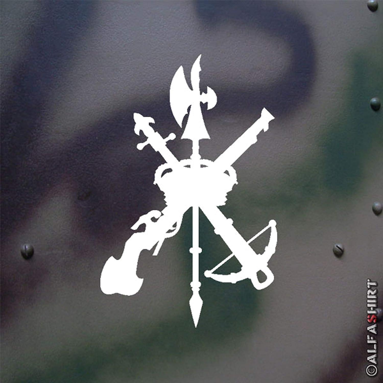 Adhesivo / insignias - español Legión Legión Española España Fremdenlegion militares del ejército escudos escudo - 15x10 cm blanco #A223: Amazon.es: Coche y moto