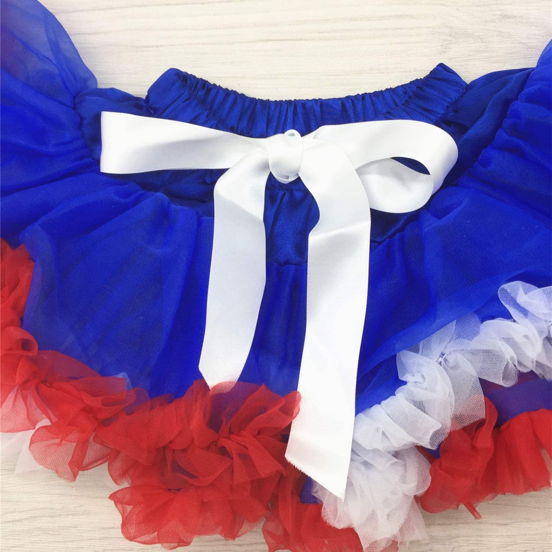 DIRANCE @ Girl My 1st July Independence Day Letter Flying Sleeve Romper Hair Strap Set Tutu Net Skirt