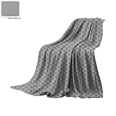 Superb Amazon Com Black And White Throw Blanket Monochrome Dotted Onthecornerstone Fun Painted Chair Ideas Images Onthecornerstoneorg