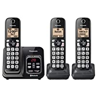 Panasonic KX-TG833 DECT 6.0 Bluetooth 3-Handset Phone Bundle Deals