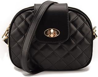 JIARUO Small Women PU Leather Crossbody bag Purses flap Triple Main Pocket  Handbag Shoulder bag 4b17dc117d3b4