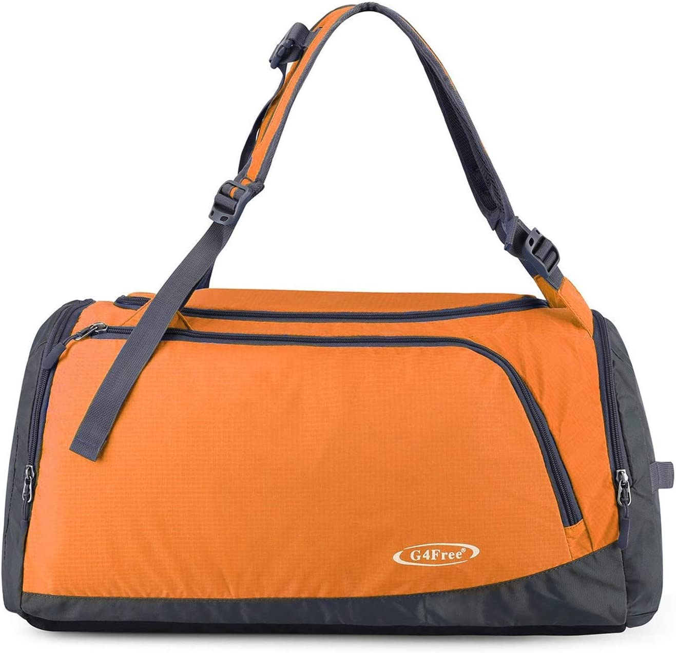 G4Free Lightweight Backpack Gym Duffle Bag with Shoe Compartment Trip Overnight Weekend Bag Camping Hiking Backpack 35L