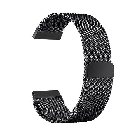Pebble 2 correa banda Huawei reloj de acero Pebble 1 Pebble 2 correa banda, oitom Milanese Loop Correa de malla de acero inoxidable para Pebble ...