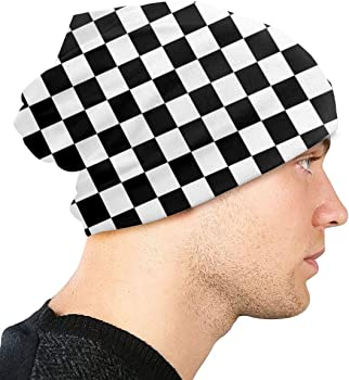 JASMODER Leopard Print Adult Knit Hats Casual Unisex Beanie Hat Printing Skull Cap Black for Men and Women