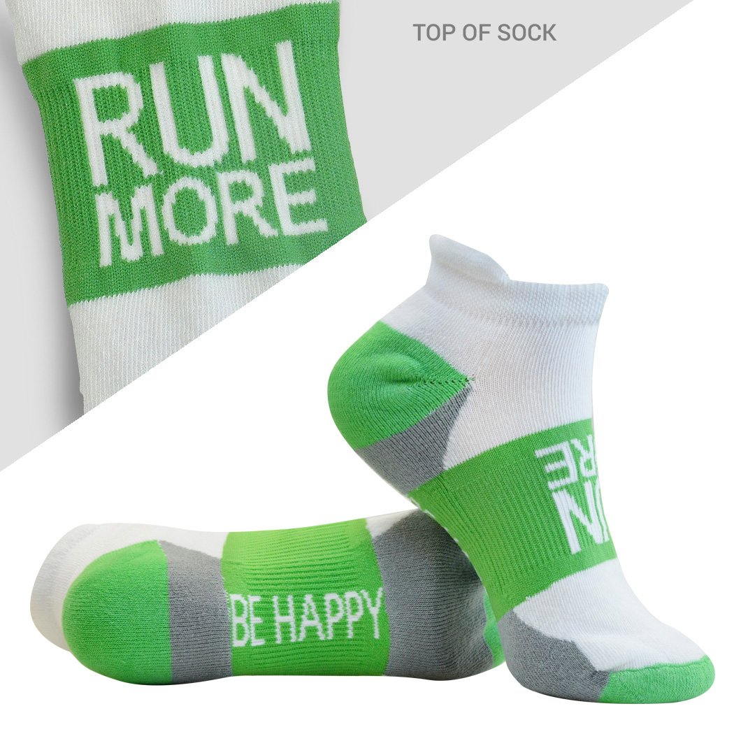 Inspirational Athletic Running Socks | Women's Woven Low Cut | Inspirational Slogans | Over 25 Styles ChalkTalkSPORTS tr-21688