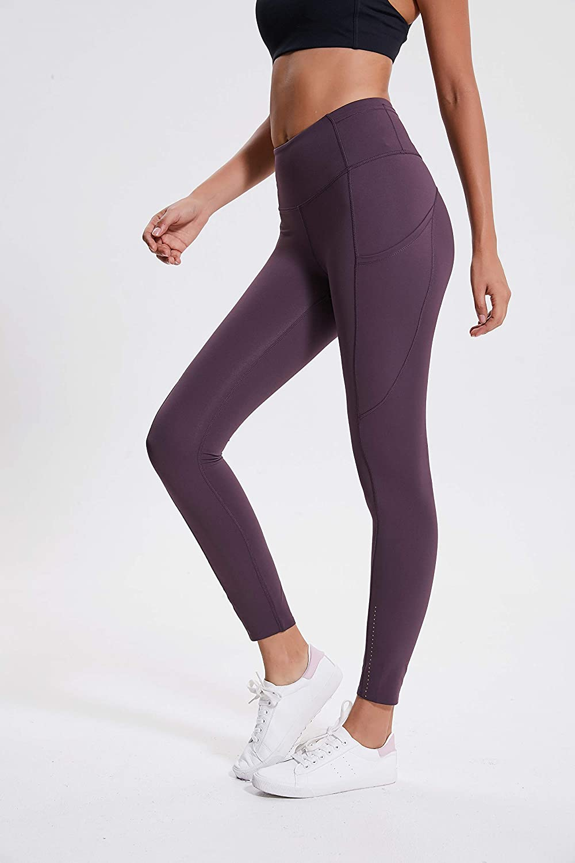 Zess Teens New Luxe Nylon Reflective Legging//Yoga Pant w//Side Pocket Best Gift