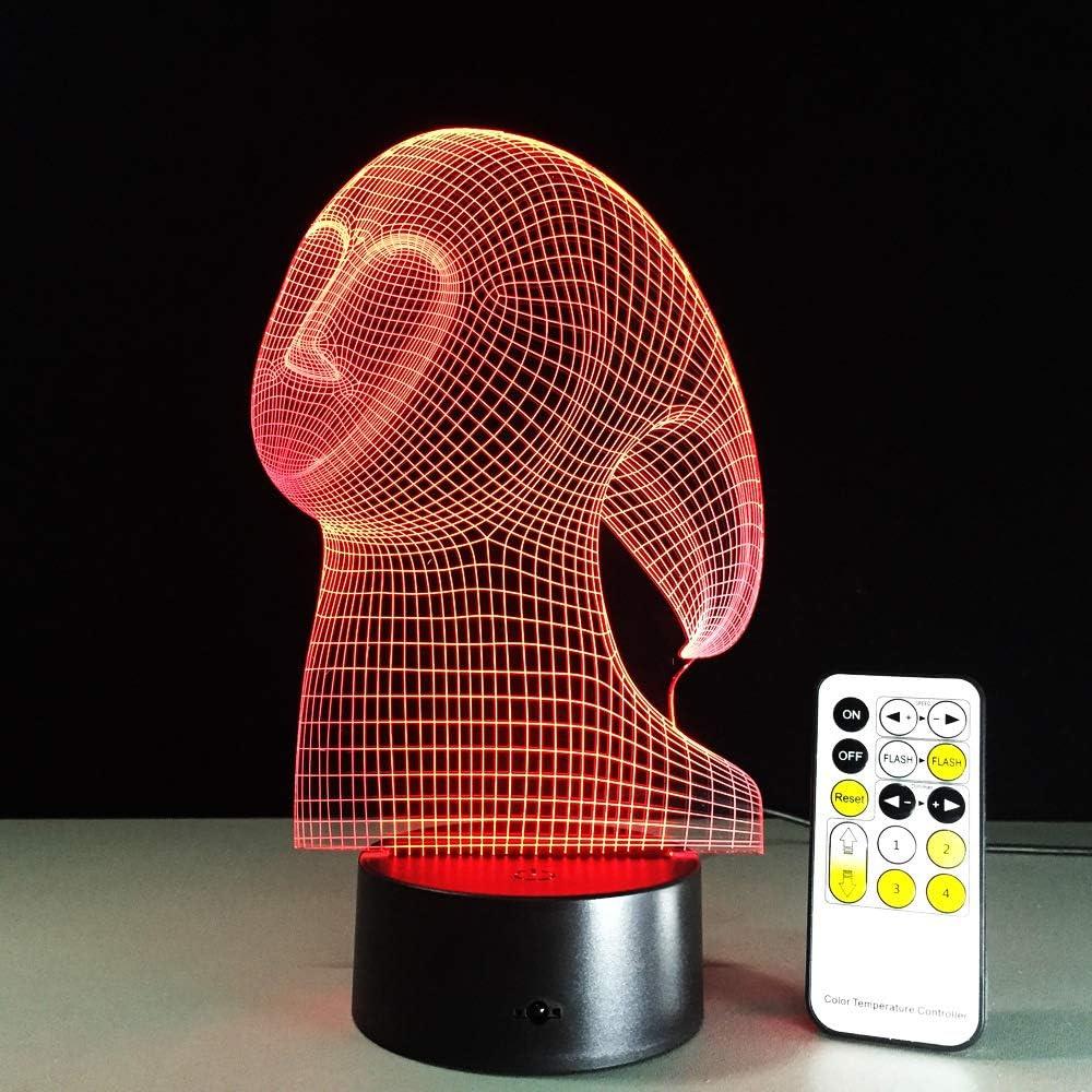 BFMBCHDJ Ghost LED 3D Stereo Vision Lámpara Interior Dormitorio ...