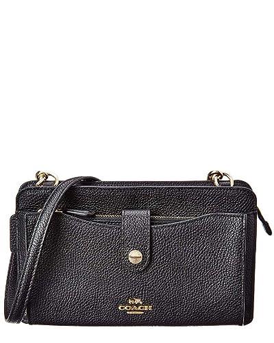 53005982d4564 Amazon.com: Coach Women`s Pop-Up Messenger Bag In Polished Pebble Leather:  Shoes