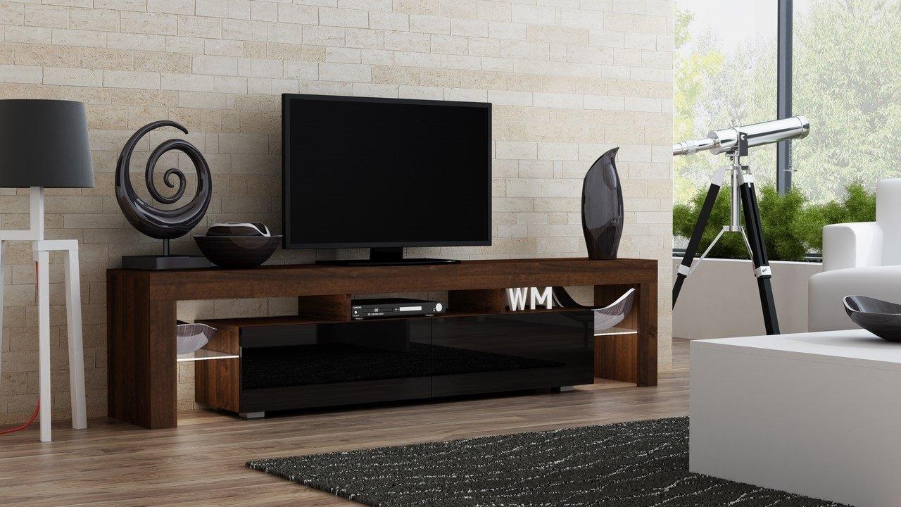 Amazoncom TV Stand MILANO 200 Walnut Line Modern LED TV