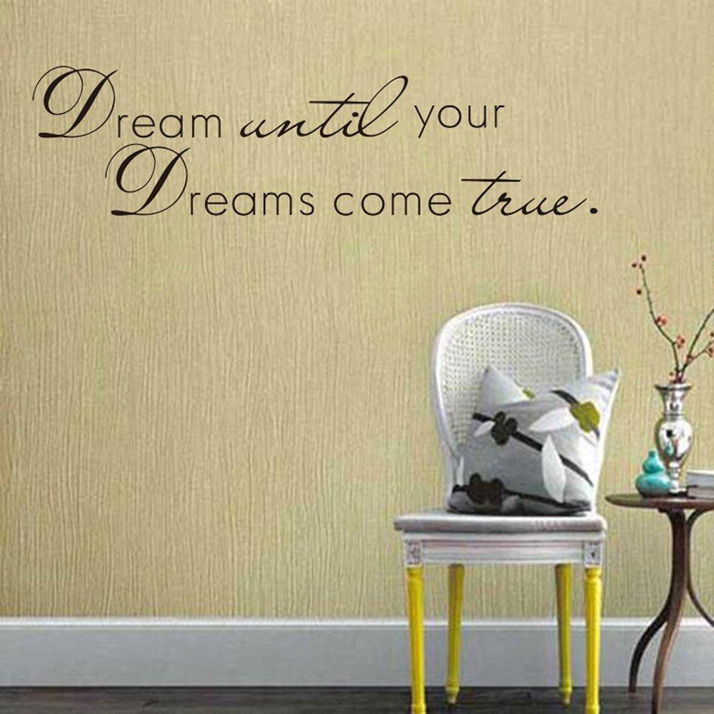Amazon.com: CQI Dream Until Your Dreams Come Ture Removable Wall ...
