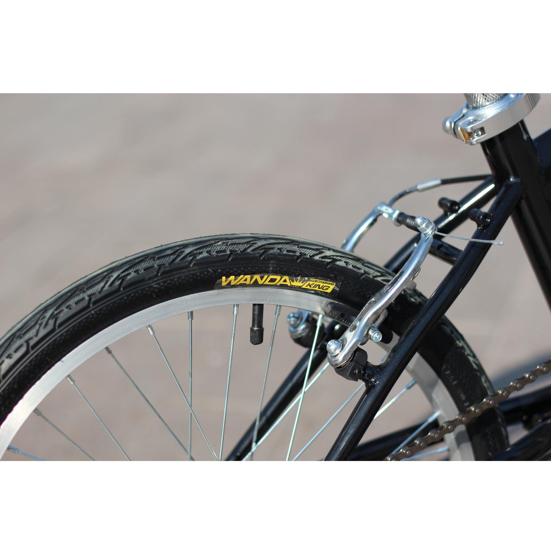 IDS Home Unyousual U Arc Folding City Bike Bicycle 6 Speed Steel Frame Shimano Gear Wanda Tire, Black by IDS Home (Image #5)