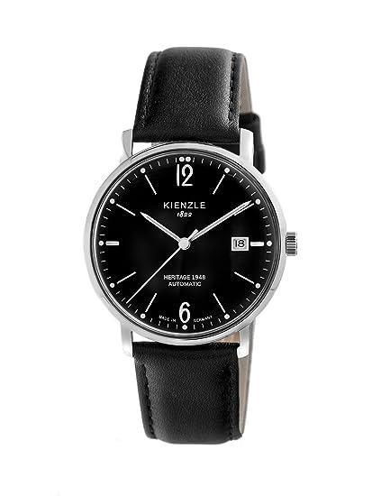 Kienzle KIENZLE 1822 Automatik - Heritage K9131013021-00346 - Reloj para hombres, correa de cuero color negro: Amazon.es: Relojes