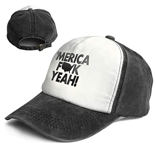 Amazon.com  Merica Fuck Yeah Women Men Vintage Style Baseball Cap ... c367c6c688