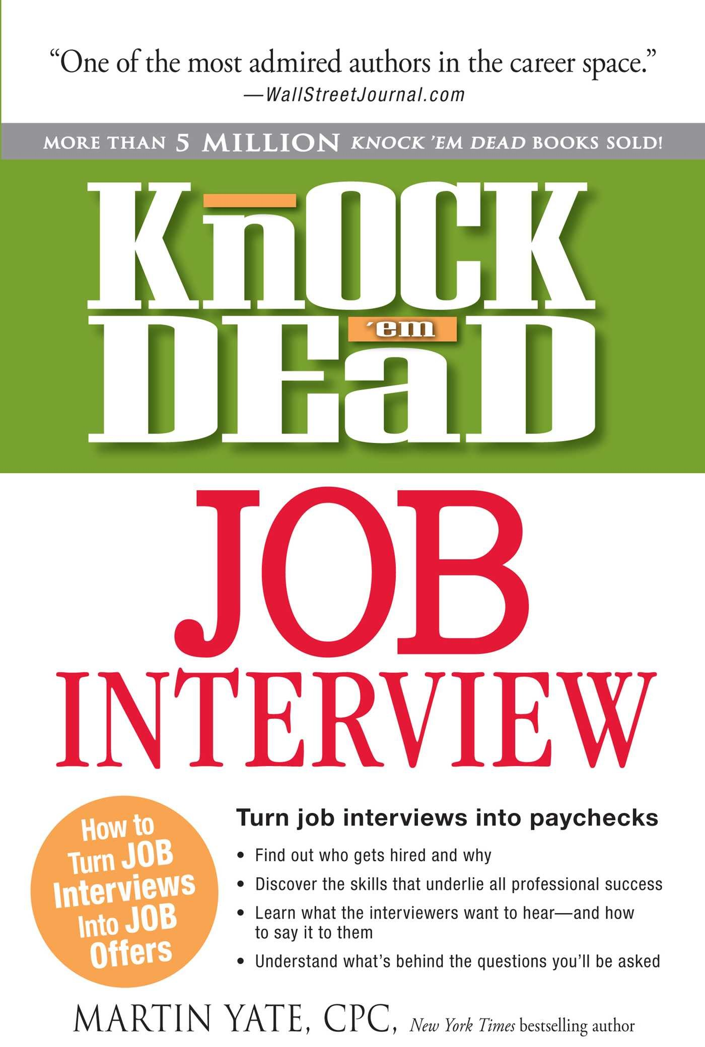 Image for Knock 'em Dead Job Interview: How to Turn Job Interviews Into Job Offers