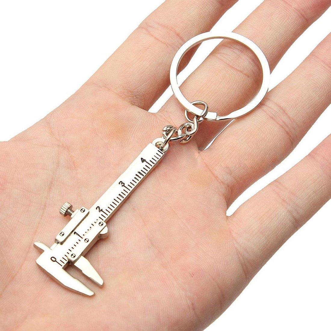Nrpfell Useful Mini Vernier Caliper Tool Pendant Slider Slides Keyring Key Chain 10CM by Nrpfell (Image #3)