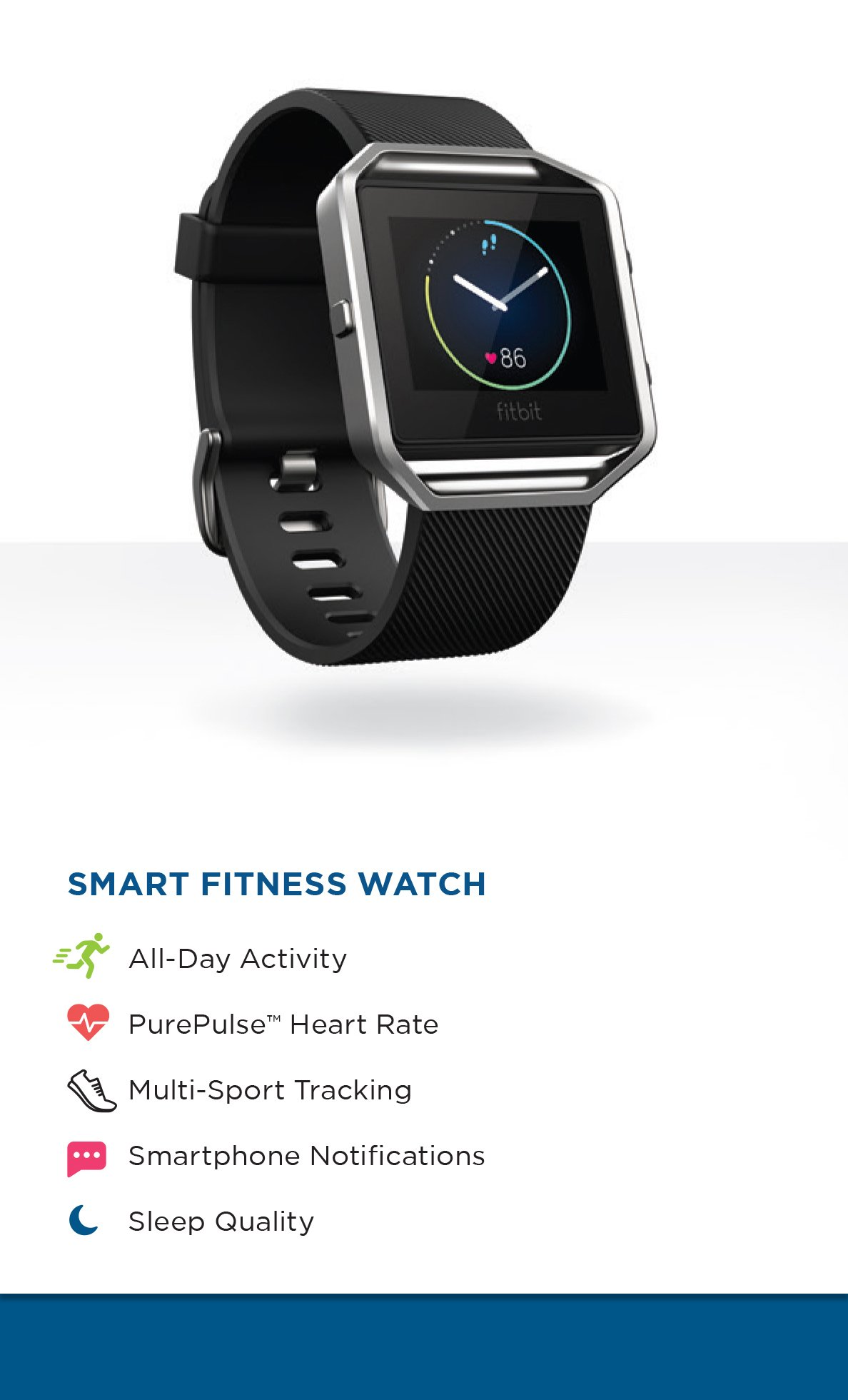 Fitbit Blaze Smart Fitness Watch, Black, Silver, Large (US Version) by Fitbit (Image #7)